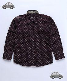 Milonee Floral Print Shirt - Brown