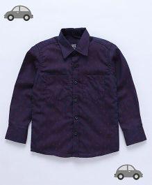 Milonee Paisley Weave Shirt - Purple