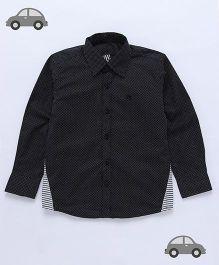 Milonee Weave Dot Shirt - Black