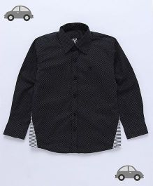 Milonee Weave Dot Shirt - Black