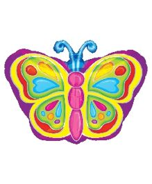 Planet Jashn Bright Butterfly Shape Balloon - Multicolor