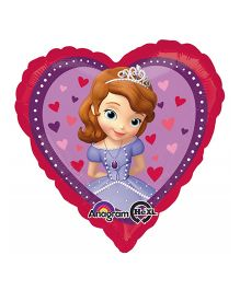 Planet Jashn Heart Shape Sofia The First Balloon - Multicolor