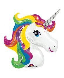 Planet Jashn Unicorn Shape Rainbow Balloon - Multicolor