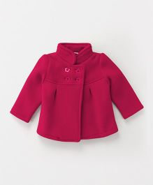 Babyhug Full Sleeves Jacket - Fuchsia