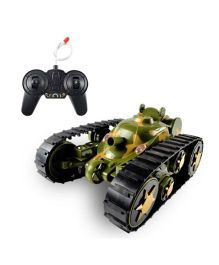 Emob 360° Rotating Remote Control Transform Battle Tank Car - Green