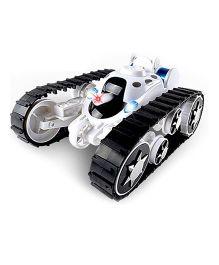 Emob 360° Rotating Remote Control Transform Battle Tank Car - White
