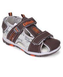 Cute Walk by Babyhug Sandals With Velcro Closure - Brown Grey
