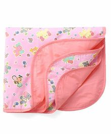 1st Step Bed Protector Animal Print - Pink Peach