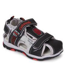 Cute Walk by Babyhug Sandals With Velcro Closure - Black Grey