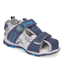 Cute Walk by Babyhug Sandals With Velcro Closure - Navy Blue Grey