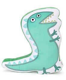 Peppa Pig George's Dinosaur Soft Toy Cushion - Green