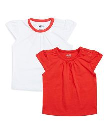 FS Mini Klub Tops Multi Print Pack Of 2 - White Red