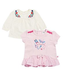 FS Mini Klub Tops Multi Print Pack Of 2 - White Pink