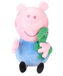 Peppa Pig George With Dinosaur Blue Pink Green  - 30 cm
