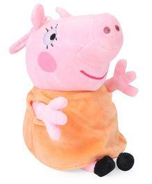 Peppa Pig Mummy Pig Clip On Soft Toy Pink Orange - 19 cm