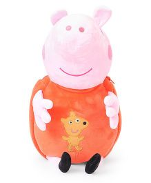 Peppa Pig Plush Toy Bag Pink Orange - 17 Inches