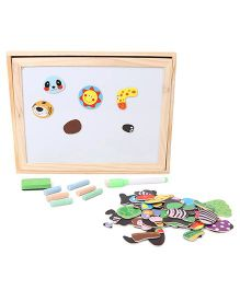 Sunny Wooden Forest Animal Magnetic Puzzle Game - Multi Color