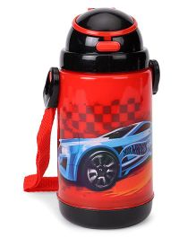 Hot Wheels Printed Sipper Water Bottle Red  - 360 ml