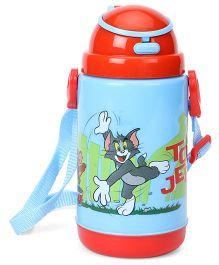 Tom And Jerry Printed Sipper Water Bottle Blue Red - 360 ml