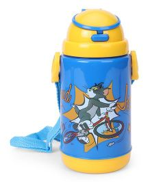 Tom And Jerry Printed Sipper Water Bottle Blue - 360 ml