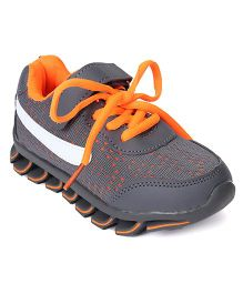 Cute Walk by Babyhug Sports Shoes - Dark Grey Orange