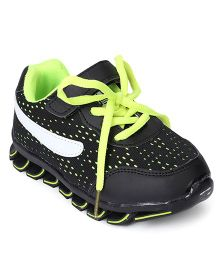 Cute Walk by Babyhug Sports Shoes - Black Green