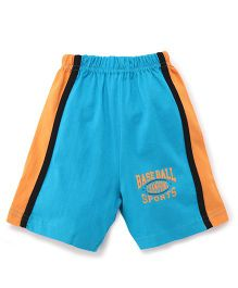 Taeko Shorts Baseball Print - Blue Orange