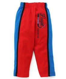 Taeko Full Length Track Pants Printed - Red Blue