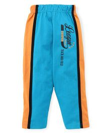 Taeko Full Length Track Pants Printed - Blue Orange