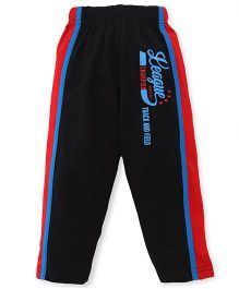 Taeko Full Length Track Pants Printed - Black Red Blue