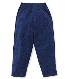 Taeko Full Length Track Pants Musical Notes Print - Navy