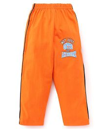 Taeko Full Length Track Pants Printed - Orange