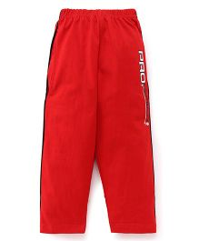 Taeko Full Length Track Pants Printed - Red