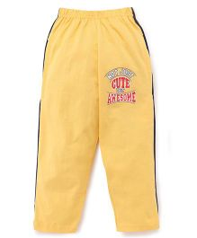 Taeko Full Length Track Pants - Yellow