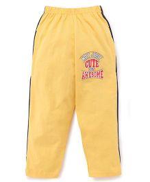 Taeko Full Length Track Pants - Yellow