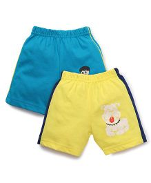 Tango Casual Shorts Pack of 2 - Blue Yellow