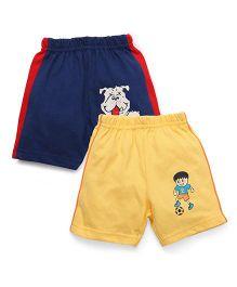 Tango Printed Shorts - Navy Blue