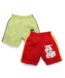 Tango Casual Shorts Pack of 2 - Green Red