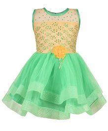 Aarika Party Wear Tutu Dress - Green