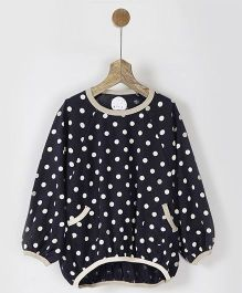 Pluie Polka Dots Balloon Tee With Pocket - Navy Blue