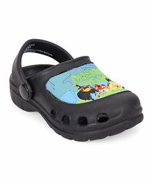 Cute Walk by Babyhug Clogs With Back Strap Angry Bird Patch - Black
