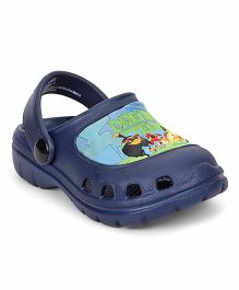 Cute Walk by Babyhug Clogs With Back Strap Angry Bird Patch - Navy Blue
