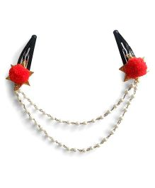 Soulfulsaai Head Chains With TicTac Clips - Red