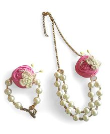 Soulfulsaai Pear Necklace & Bracelet - Pink