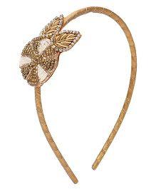 Soulfulsaai Circle Leaves Hairband - Golden