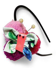 Soulfulsaai Pompom Butterfly Hairband - Pink