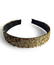 Soulfulsaai Sequence Broad Hairband - Golden