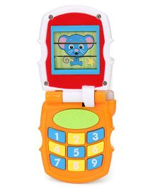 Sunny Musical Toy Phone - Red Orange