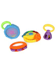 Sunny Rattle Set With Light & Music Pack Of 4 - Multi Color