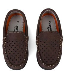 Cute Walk by Babyhug Cut Style Loafer Shoes - Brown